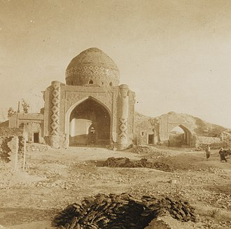 Abbas Mirza Mosque, Yerevan - Remains of mosque in 1925. Photographer Fridtjof Nansen