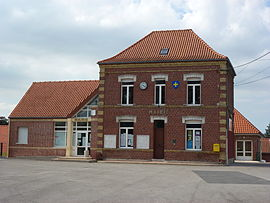 The town hall of Nordausques