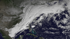 November 13–21, 2014 North American winter storm - Satellite image of the winter storm on November 17
