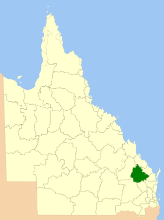North Burnett Region - Location in Queensland