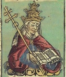 Nuremberg chronicles f 242v 1 (Eugenius IV)