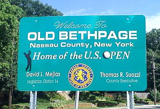 Old Bethpage, New York - Entry sign into Old Bethpage