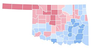 United States presidential election in Oklahoma, 1992 - Image: OK1992
