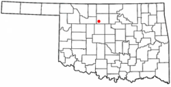 Location of Drummond, Oklahoma