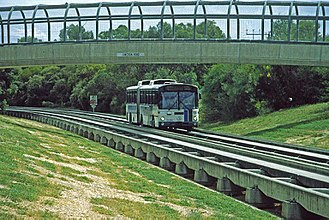Buses in Adelaide - O-Bahn Bus en route to Paradise Interchange, 1997.