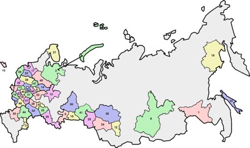 Cartina Russia Regioni.Oblast Della Russia Wikipedia