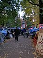 Occupy Portland November 2, walkway.jpg