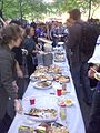Occupy Wall Street Protest - Food Table - 8 Oct 2011 - Zuccotti Park - NYC - USA - BlackBerry Photo.jpg