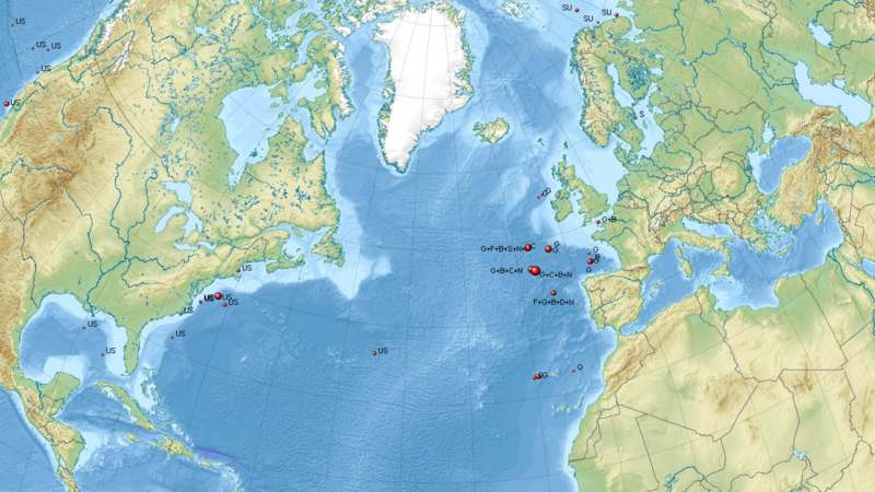 Ocean Disposal Of Radioactive Waste Wikipedia - Atlantic ocean on us map