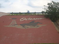 Odessa, TX, welcome sign Picture 1824