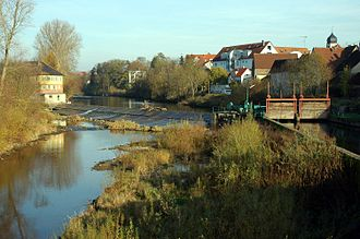 Kocher - A dam on the Kocher in Oedheim