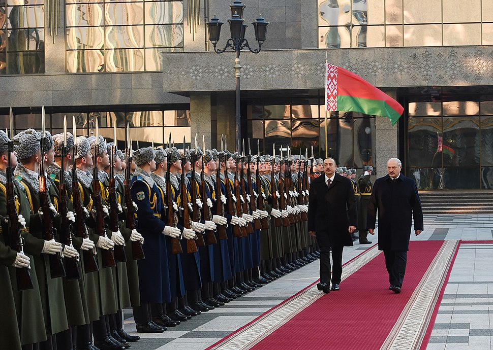 Official welcoming ceremony for Ilham Aliyev was held in Belarus 05