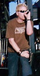 Dexter Holland as the singer of The Offspring.