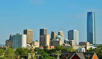 Central Oklahoma - Downtown Oklahoma City (2014), the hub of Central Oklahoma.