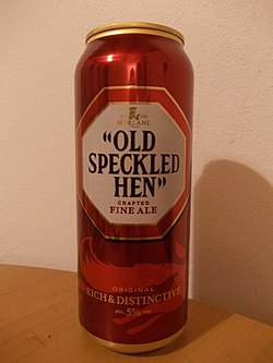 en burk Old Speckled Hen
