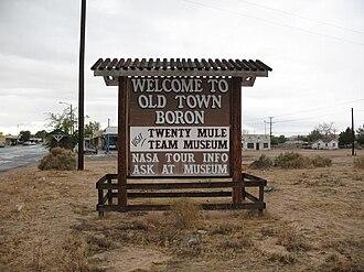 Boron, California - Old Town Boron sign