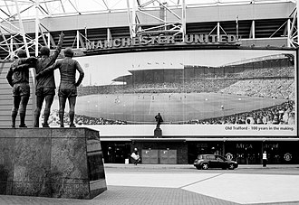 Old Trafford - Old Trafford's East Stand in 2011, displaying a panorama of the stadium one hundred years prior.
