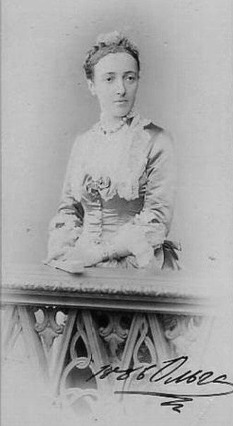 Princess Cecilie of Baden - Grand Duchess Olga Feodorovna in 1886