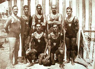 Olympiacos Water Polo Club - Olympiacos Water Polo team in 1927. This roster won the first Greek League title in Olympiacos' long history.