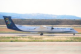 Olympic Air DHC-8-400 Dash 8; SX-OBC@ATH;12.06.2011 600ai (5832443259).jpg