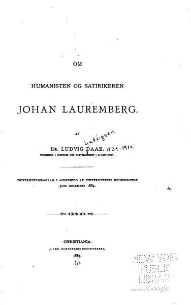 File:Om Humanisten og Satirikeren Johan Lauremberg.djvu