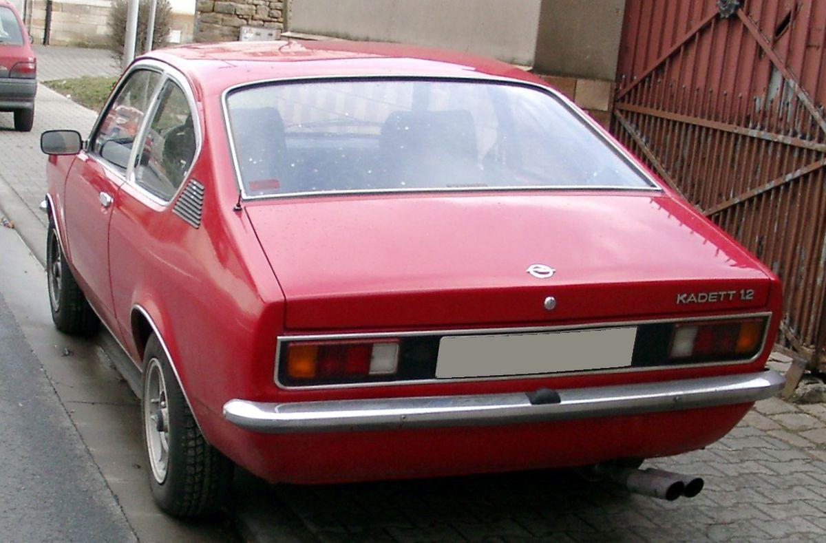 File Opel Kadett C Coupe Rear 20080206 Jpg Wikimedia Commons
