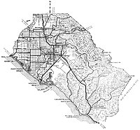 Orange County map 1921