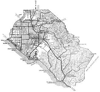 Orange County, California - Orange County map, 1921