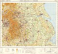 Ordnance Survey Quarter-inch sheet 11 North Midlands and Yorkshire, published 1964.jpg