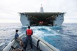 Orion capsule guided into well deck of USS Anchorage after EFT-1.jpg
