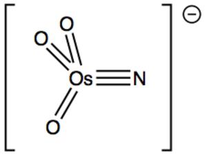 Metal nitrido complex - Image: Os NO3 anion