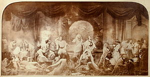 Oscar Gustave Rejlander - The Two Ways of Life a moralistic photo montage of Rejlanders own work, 1857.