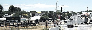 Otjiwarongo - Otjiwarongo main road pictured from the south of the town