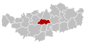 Ottignies-Louvain-la-Neuve - Image: Ottignies Louvain la Neuve Brabant Wallon Belgium Map