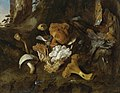 Otto Marseus van Schrieck - Bosstilleven met champignons, vlinders en een slang - I.jpg