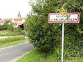 Oulches-la-Vallée-Foulon (Aisne) city limit sign.JPG
