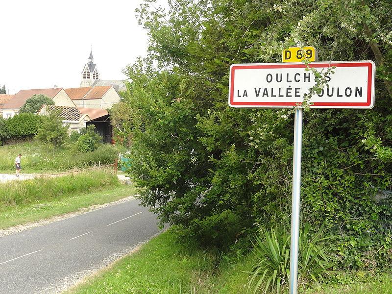Oulches-la-Vallée-Foulon (Aisne) city limit sign