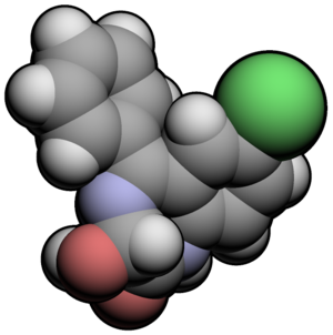 Oxazepam - Image: Oxazepam 3d