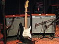 Oz Noy's Fender Strat & Fender Twin Reverbs (probably rented), Jazz Alley, 2011-02-01.jpg
