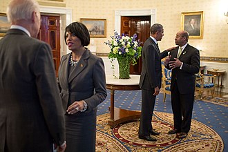 Stephanie Rawlings-Blake - Rawlings-Blake at the White House speaking with Vice President Biden.