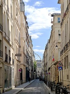 Rue de la Sourdière street in Paris, France