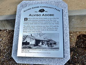 Alviso Adobe Community Park - Plaque at the Alviso Adobe Community Park, Pleasanton, CA