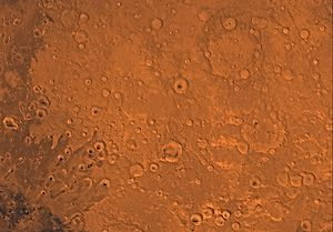 Arabia quadrangle - Image of the Arabia Quadrangle (MC-12). The region is dominated with heavily cratered highlands; the northeast part contains Cassini Crater.