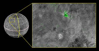 Charon (moon) - Organa, the youngest crater of Charon.