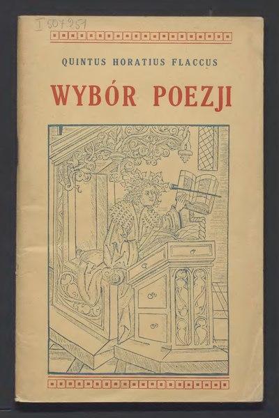 File:PL Horacy Wybór poezji.djvu