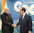 PM Narendra Modi and French PM Francois Hollande at the 2014 G-20 summit.jpg
