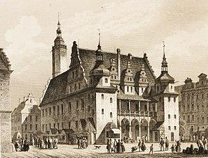 Brzeg Town Hall - Image: POPPEL(1852) p 495 DAS RATHHAUS IN BRIEG