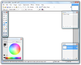 Paint.NET 3.35 aperto con Windows Vista