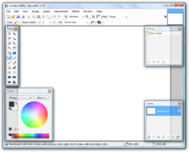 Screenshot van Paint.NET