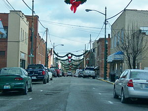 Paintsville, Kentucky - Main Street decorated for Christmas